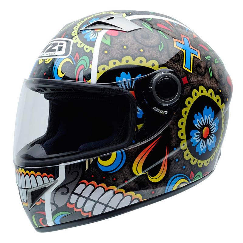 NZI Must II Graphics Casco De Moto Mexican Skulls,Medio