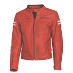 Chaqueta piel Stinna Retro Red White