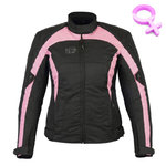 Chaqueta moto Freeday Aviation Lady Negro Rosa
