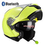 Casco NZI Combi Duo Fluo Yellow Bluetooth-Intercom