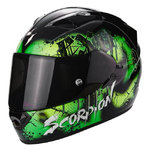 Casco Scorpion Exo 1200 Air Tenebris Black Green