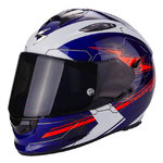 Casco SCORPION Exo 510 Air Cross Blue White Neon Red