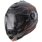 Casco CABERG Droid Blaze Matt Black Red