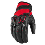 Guantes ICON Konflict Rojo
