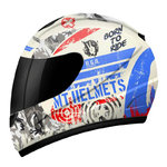 Casco MT Thunder Kid Sniper White Blue Red