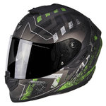Casco Scorpion Exo 1400 Air Picta Matt Silver Green