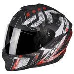 Casco SCORPION Exo 1400 Air Picta Matt Black Neon Red
