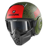 Casco SHARK Raw Drak Tribute RM Mat GRK
