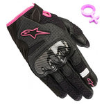 Guantes Alpinestars SMX-1 Air V2 Lady Black Fucsia
