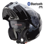 Casco CABERG Duke II Legend Negro Blanco Bluetooth-Intercom
