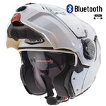 Casco CABERG Droid White Metal Bluetooth-Intercom