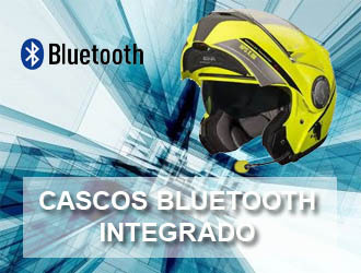Cascos de moto con Bluetooth e intercomunicador..