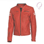 Chaqueta piel Stinna Retro Lady Red White