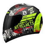 Casco MT Thunder Kid Sniper Matt Black Yellow