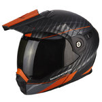 Casco Scorpion Exo ADX-1 Dual Matt Black Orange