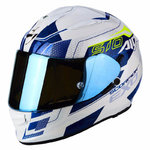 Casco SCORPION Exo 510 Air Galva Pearl White Blue