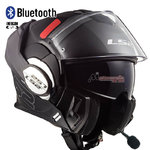 Casco LS2 FF399 Valiant Prox Matt Black Titanium Bluetooth