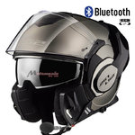 Casco LS2 FF399 Valiant Chrome Bluetooth-Intercom