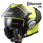 Casco LS2 FF399 Valiant Prox Matt Black Yellow Bluetooth