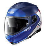 Casco Nolan N100-5 Plus Distinctive N-Com Flat Blue