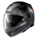 Casco Nolan N100-5 Plus Distinctive N-Com Flat Lava Orange