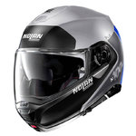 Casco Nolan N100-5 Plus Distinctive N-Com Flat Silver Blue