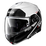 Casco Nolan N100-5 Plus Distinctive N-Com Metal White