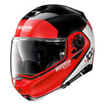 Casco Nolan N100-5 Plus Distinctive N-Com Red Glossy