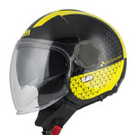 Casco NZI Ringway Duo Slash Negro Amarillo