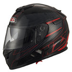 Casco NZI Symbio 2 Duo Fiber Volt Matt Black Red