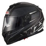 Casco NZI Symbio 2 Duo Fiber Volt Matt Black White