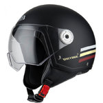 Casco NZI Vintage 3 Triband Matt Black Burgundy