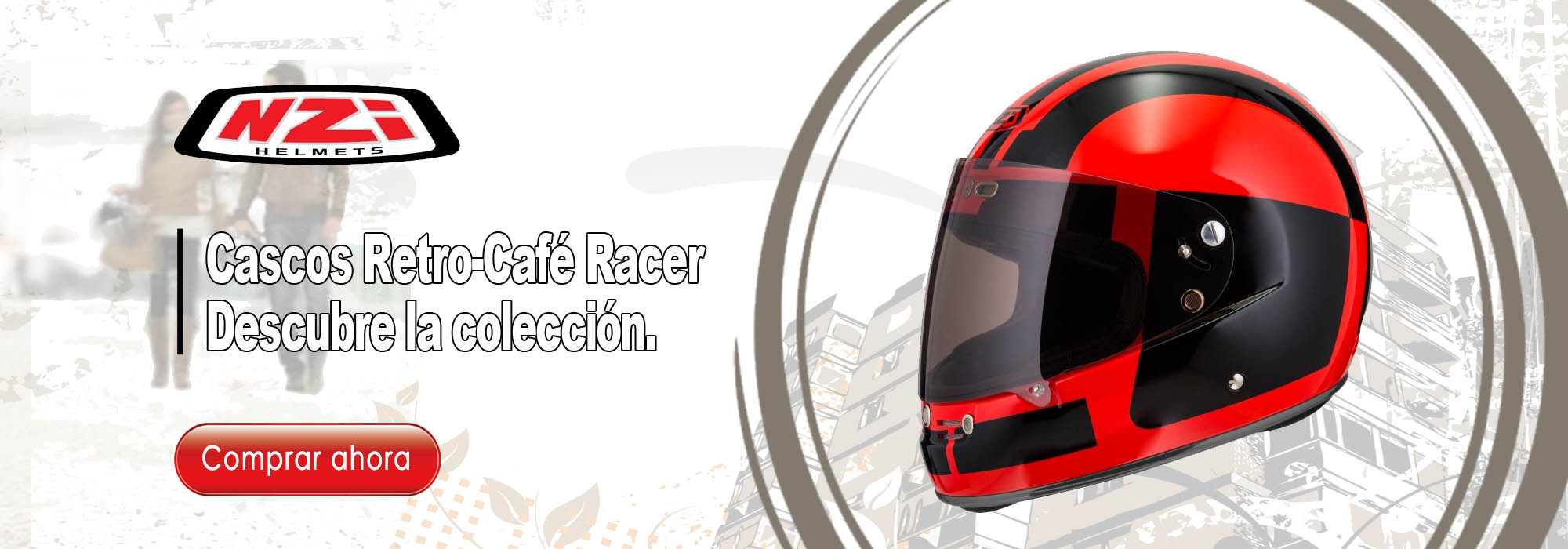 Cascos Retro-Cafe Racer